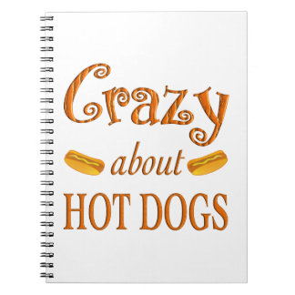 Crazy About Hot Dogs Notebook