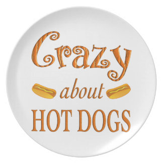 Crazy About Hot Dogs Party Plates