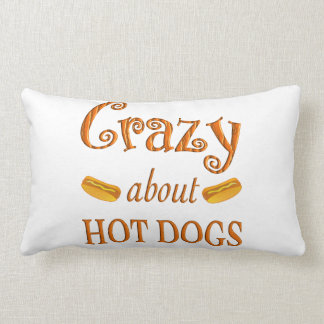 Crazy About Hot Dogs Pillow