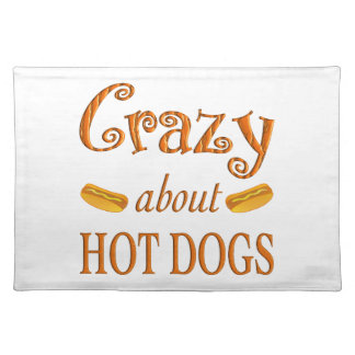 Crazy About Hot Dogs Place Mats