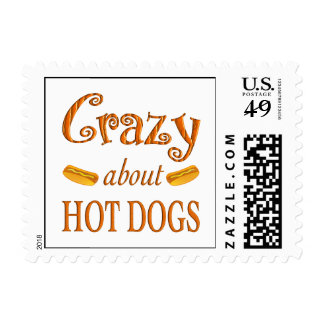 Crazy About Hot Dogs Postage Stamps