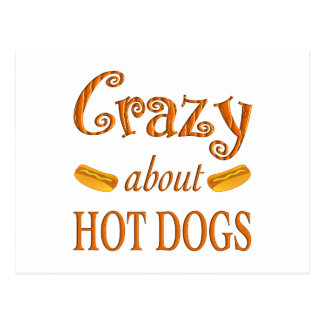 Crazy About Hot Dogs Postcard
