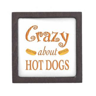 Crazy About Hot Dogs Premium Keepsake Box