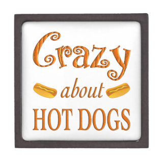 Crazy About Hot Dogs Premium Trinket Box