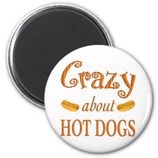 Crazy About Hot Dogs Refrigerator Magnets