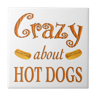 Crazy About Hot Dogs Tiles