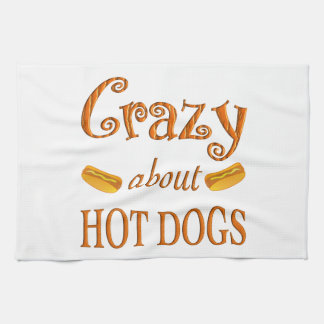 Crazy About Hot Dogs Towels