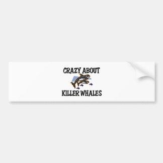 Crazy About Killer Whales Bumper Sticker