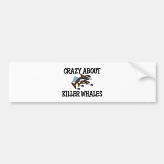 Crazy About Killer Whales Bumper Stickers