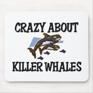 Crazy About Killer Whales Mouse Pads