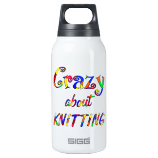 Crazy About Knitting Insulated Water Bottle