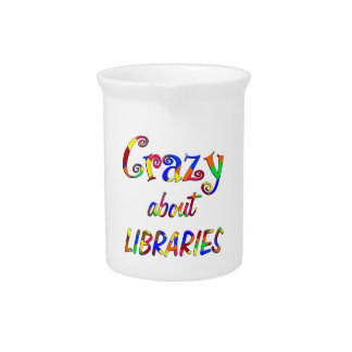 Crazy about Libraries Drink Pitcher