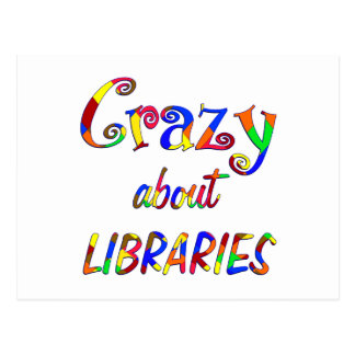 Crazy about Libraries Post Cards