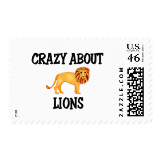 Crazy About Lions Postage Stamps