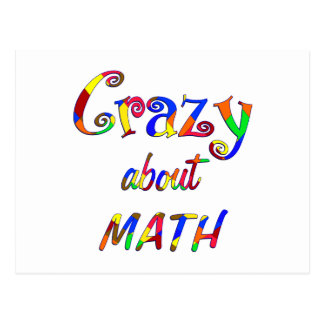 Crazy about Math Postcard