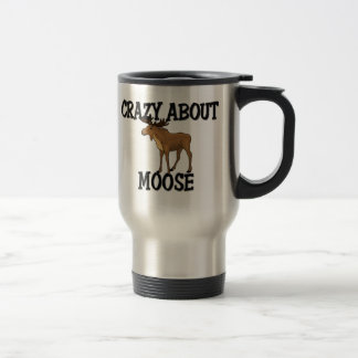 Crazy About Moose 15 Oz Stainless Steel Travel Mug