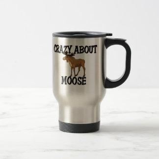 Crazy About Moose Travel Mug