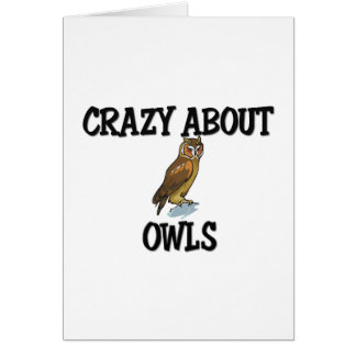 Crazy About Owls Greeting Card