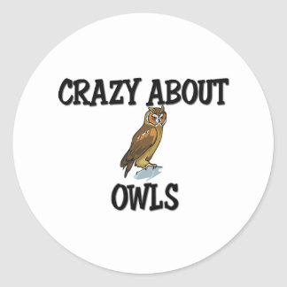 Crazy About Owls Classic Round Sticker