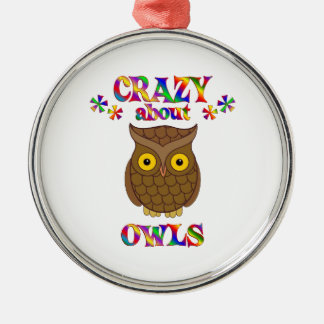 Crazy About Owls Metal Ornament