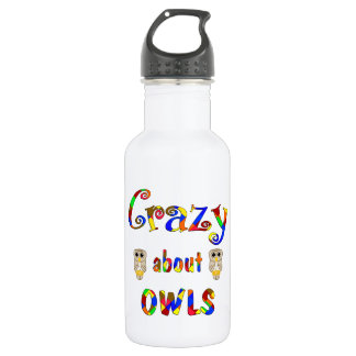 Crazy About Owls Stainless Steel Water Bottle