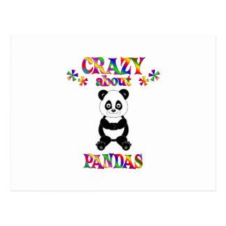 Crazy About Pandas Postcard