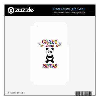 Crazy About Pandas Skin For iPod Touch 4G