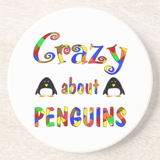 Crazy About Penguins Drink Coaster