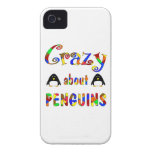 Crazy About Penguins iPhone 4 Cases