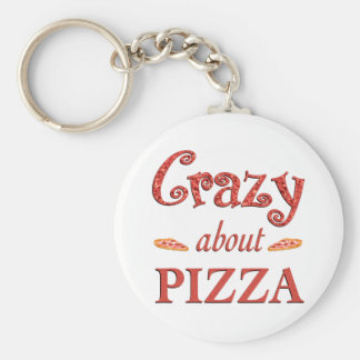 Crazy About Pizza Keychain