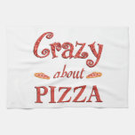 Crazy About Pizza Kitchen Towels