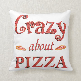 Crazy About Pizza Pillow