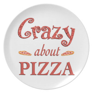 Crazy About Pizza Plate