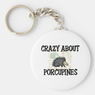 Crazy About Porcupines Keychain