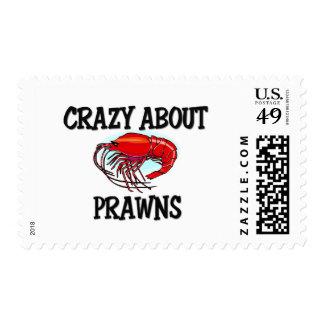 Crazy About Prawns Postage Stamp