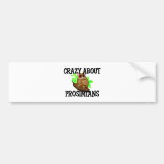 Crazy About Prosimians Bumper Sticker