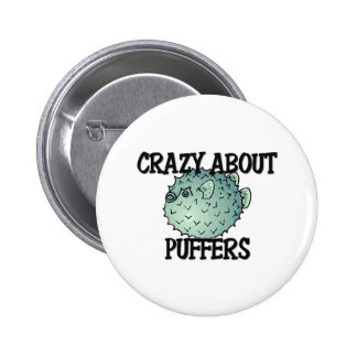 Crazy About Puffers Button
