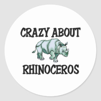 Crazy About Rhinoceros Stickers