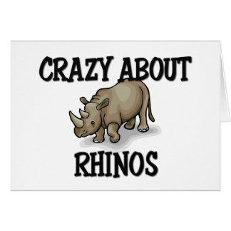 Crazy About Rhinos Greeting Cards