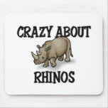Crazy About Rhinos Mouse Pads