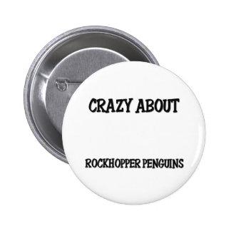 Crazy About Rockhopper Penguins Button