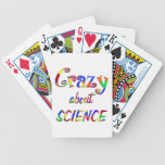 Crazy about Science Bicycle Poker Cards