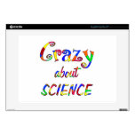 Crazy about Science Laptop Decal