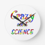 Crazy about Science Round Wallclock