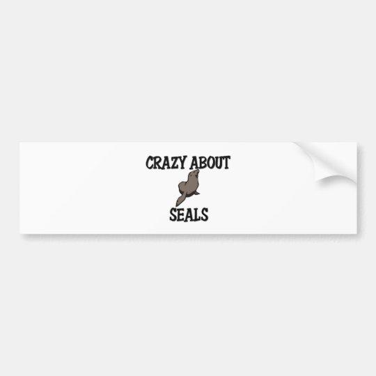 Crazy About Seals Bumper Sticker
