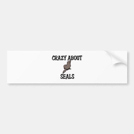 Crazy About Seals Car Bumper Sticker