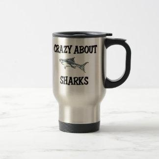 Crazy About Sharks Travel Mug