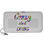 Crazy About Skiing Mp3 Speakers