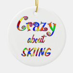 Crazy About Skiing Ornaments