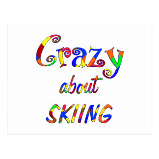 Crazy About Skiing Postcard